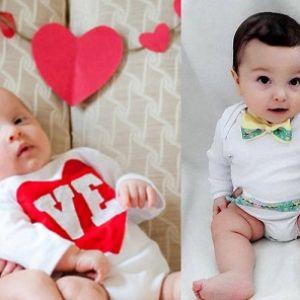 مدل لباس های نوزادی برای دوقلوها